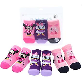Rutschfeste Baumwolle Baby Girl Socken 3er Pack