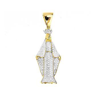Premium Bling - 925 sterling silver Virgin Mary pendant