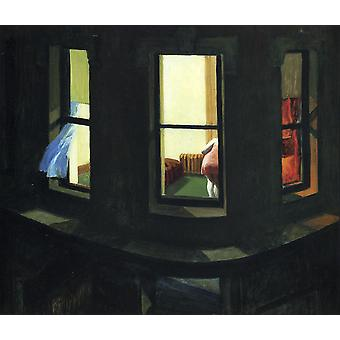 Edward Hopper- Night Window Poster Print Giclee