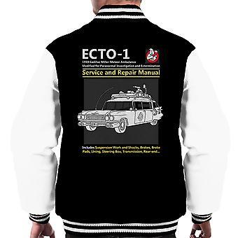 Ghostbusters Ecto1 Service And Repair Manual Men's Varsity Jacket