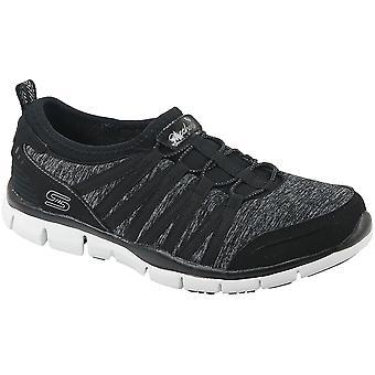Skechers Gratis 22602-BKW Womens sports shoes