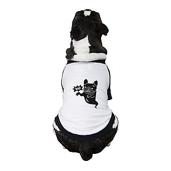 Boo French Bulldog Baseball Shirt Funny Halloween Dog T-Shirt Idea
