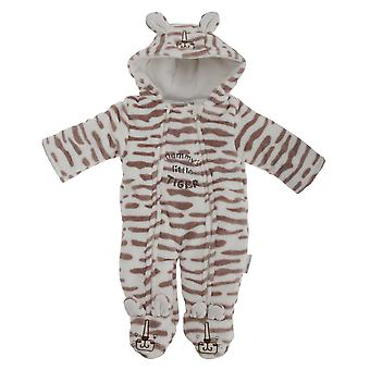 Baby Unisex Mummys Little Tiger All In One Hooded Winter Snowsuit