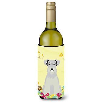 Пасхальные яйца миниатюрный Schanuzer белая бутылка вина Beverge изолятор Hugger