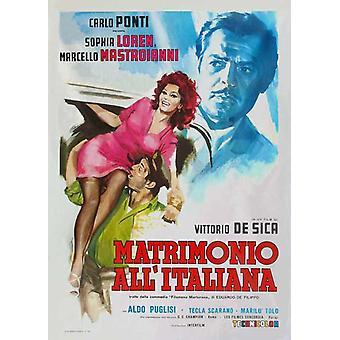 Avioliitto italialaistyylinen elokuvajuliste (11 x 17)