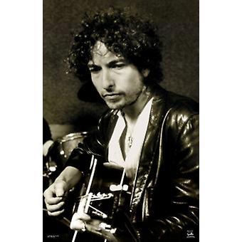 Bob Dylan kitara seepiasävyn juliste Juliste Tulosta