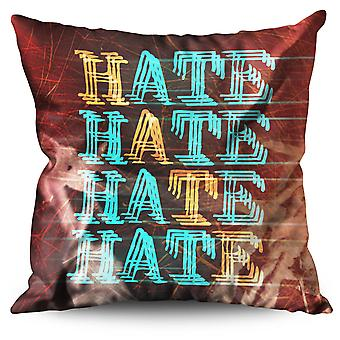 Hateful Hate Linen Cushion 30cm x 30cm | Wellcoda