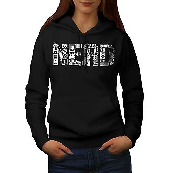 Learn Computer Parts Geek Women BlackHoodie | Wellcoda