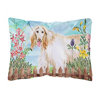Afghan Hound Spring Canvas Fabric Decorative Pillow