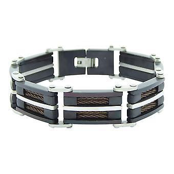 Leder und Stahl Armband