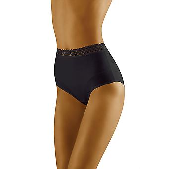 Wolbar Women's Eco-Go Black Full Panty Highwaist Brief