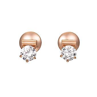 Boucles d'oreilles Joop féminin argent zircon cubique Rosé de Lauren JPER90312C000