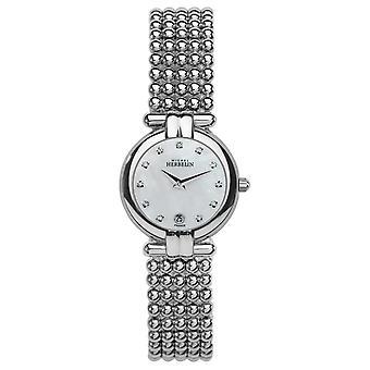 Michel Herbelin naisten teräs Perle, Crystal, Pearl soittaa 16873/B59 Watch