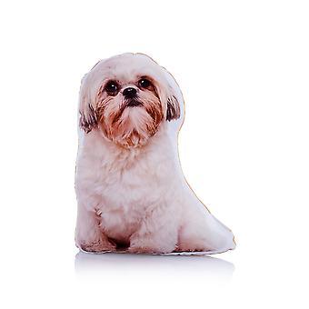 Adorable shih tzu shaped midi cushion