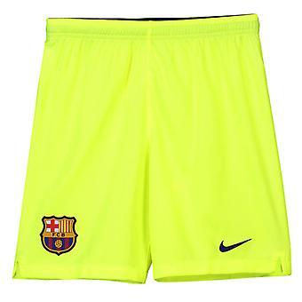 2018-2019 Barcelona weg Shorts Nike Voetbal Volt (kinderen)