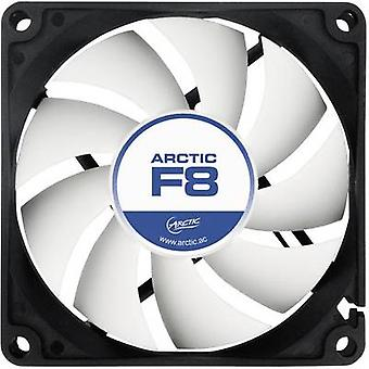Arctic F8 PC fan Black, White (W x H x D) 80 x 80 x 25 mm