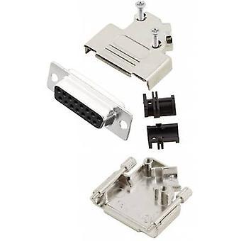 Receptáculo MHD45ZK15-DB15S-K conectores D-SUB de MH set 45 ° número de pernos: 15 soldadura cubo 1 PC