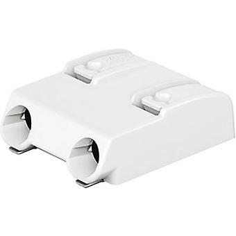 WAGO Spring-loaded terminal 0.75 mm² Number of pins 2 White 1 pc(s)