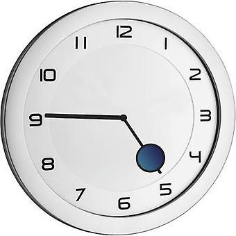 TFA Dostmann 60.3028.54 kvartsi seinä kello 28 cm x 1,5 cm metallinen hopea
