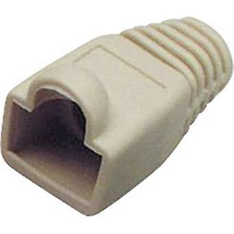 Connettore a spina RJ45 CAT 6A con manicotto di protezione kink scarico della piegatura numero di pin: 8P8C grigio BKL Electronic 143305 1/PC