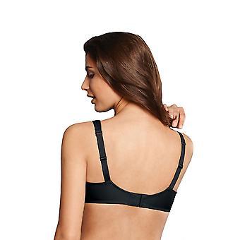 Rosa Faia Grazia negro color sólido 5619-001 Femenil aros Bra de Copa completa