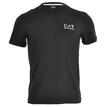EA7 Emporio Armani juna ydin ID Logo Crew Neck t-paita, yö sininen, pieni