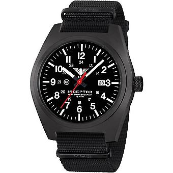 KHS mens watch interceptor black steel KHS. INCBS.NB