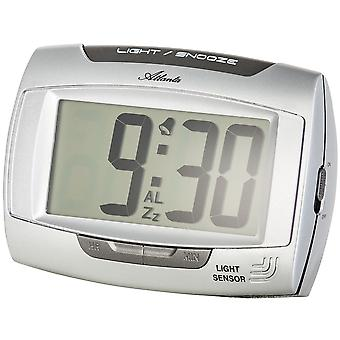 Atlanta alarm clock quartz light sensor with Nachleucht effect