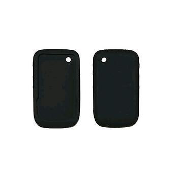 רכה סיליקון ג'ל העור לכסות מארז עבור עקומת BlackBerry 8520, 8530 (שחור)
