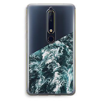 Nokia 6 (2018) gennemsigtig sag (Soft) - Ocean bølge