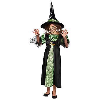 Skøre heks kids kostume pige Halloween troldkvinde