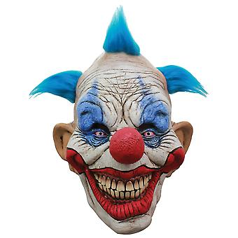Dammy Clown Horror Joker Evil Sinister Creepy Mens Costume Overhead Mask & Hair