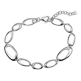 Elementos enlace Oval abierto plata pulsera - plata