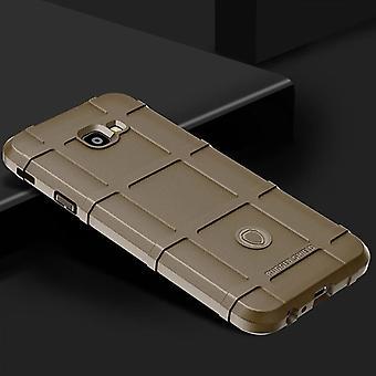 Für Samsung Galaxy J6 Plus J610F Shield Series Outdoor Braun Tasche Hülle Cover Schutz Neu