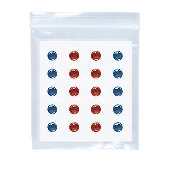 Ojo adhesivo gemas decoraciones - azul/ámbar - Set de 40