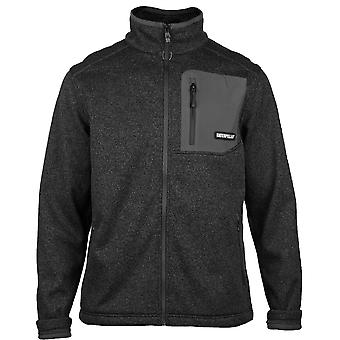 Caterpillar Mens Polar Two Tone Full Zip Fleece Jacket