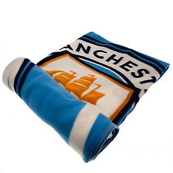 Manchester City FC Official PL Fleece Blanket