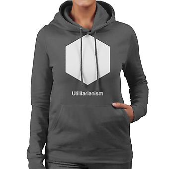 Utilitarianism Philosophy Symbol Women's Hooded Sweatshirt