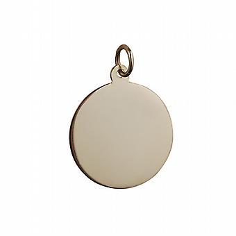 9ct goud 19mm platte ronde Disc