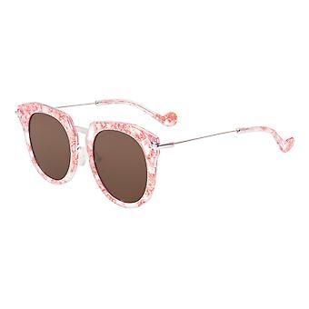 Bertha Aaliyah gepolariseerde zonnebril - roze schildpad/bruin