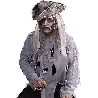 Parrucca per Zombie Pirate