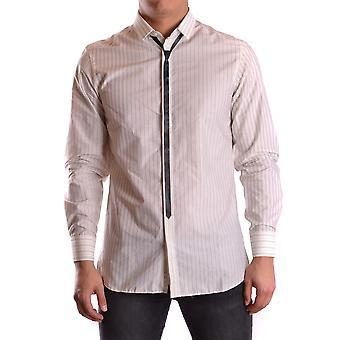 Neil Barrett Ezbc058021 Men's White Cotton Shirt