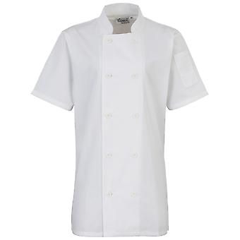 Premier Womens/Ladies Short Sleeve Chefs Jacket / Chefswear (Pack of 2)