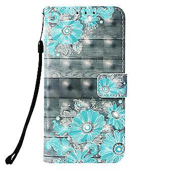 Samsung Galaxy S10 Plånboksfodral - Blue Flowers