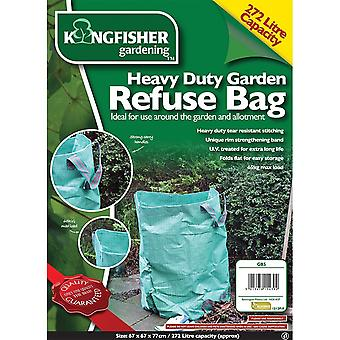 Kingfisher GB5 Heavy Duty Garden Waste Refuse Rubbish Bag Sack Large 272L Litre / 65kg Capacity Folds Flat Tear Resistant Stitching