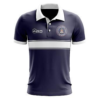 Cayman Islands Concept Stripe Polo Shirt (Navy)-Kids