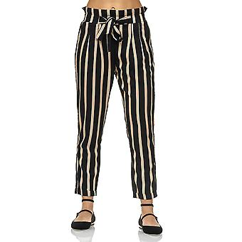 Lâche Poptrash pantalon Pantalon cravate ceinture animal print Leo Zebra rayures des femmes