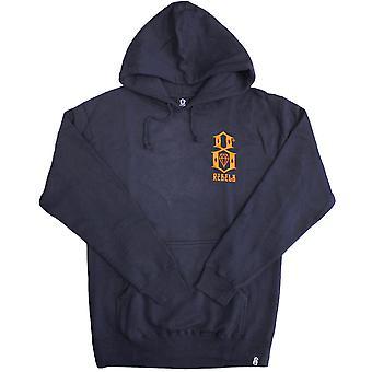 Rebel8 logotipo Pullover Hoodie Navy