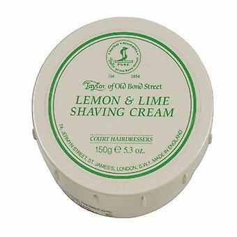 Taylor Of Old Bond Street Shaving Cream Pot 150g - Lemon & Lime