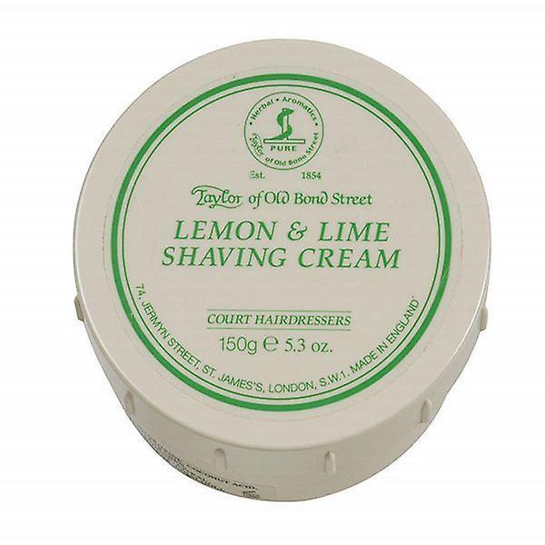 Taylor Of Old Bond Street Shaving Cream Pot 150g - Lemon & Lime
